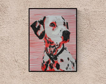 Dalmatian Dog - custom dog portrait - custom pet portrait - personalized pet - dog illustration - dog portraits - dog lover gift