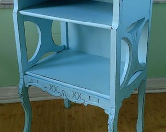 Lovely shabby chic antique side table