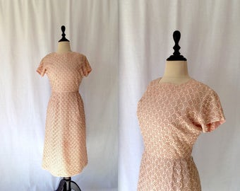 1950s ballet pink ribbon dress