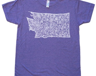 WA State Kids T shirt, youth sizes 2-12, American Apparel, Children's clothing, gifts for kids, gifts for boys, gifts for girls, washington