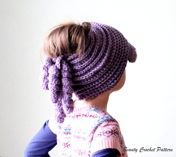 Messy Bun Hat Crochet Pattern, Messy Bun Hat, Messy Bun Beanie Pattern ...
