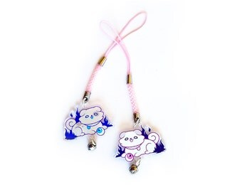 "Puppit 1.5"" Acrylic Charm with Phone Strap (Double-Sided)"