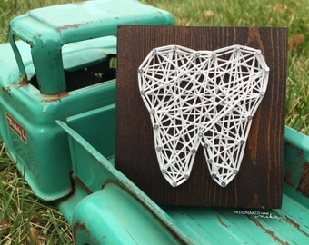 MADE TO ORDER String Art Mini Tooth Sign