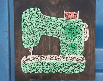 MADE TO ORDER String Art Sewing Machine Sign