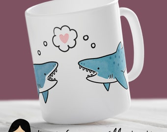 You're Jawesome Mug, Cute Shark Mug - Hand Illustrated Mug, Sharks Mug, Jaws Mug, Ocean Mug, Sea Mug, Geek Mug, Nerd Mug, Shark Gift