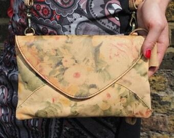 Sligo Clutch Floral Print Leather