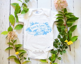 Love Is Love: Feminist Onesie, CUSTOM Baby Bodysuit and Toddler Tee