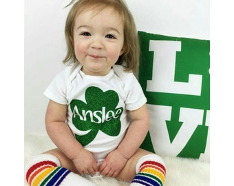 St. Patrick's Day Shirts, Girl St. Patrick's Day Outfit, St. Patrick's Day Baby, Baby's 1st St. Patrick's Day, Shamrock Shirt,  Liv & Co.™