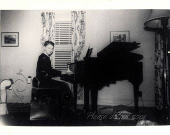 Vintage Photo  ~ abstract baby grand silhouette snapshot ~ arty composition