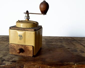 French Vintage Coffee Grinder, Coffee Mill PEUGEOT/ French decor /French kitchen decor/French country