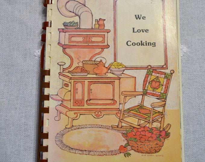Vintage We Love Cooking Cookbook Recipes Edgemoor Baptist Church Spiral Bound Cookbook Panchosporch