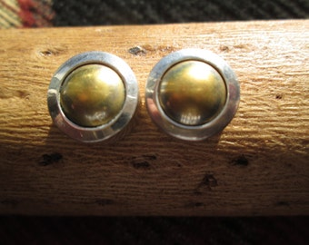 Silpada Sterling Silver and Brass Post Earrings