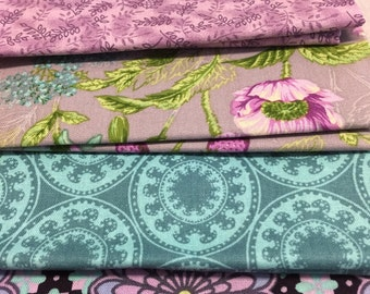 Fat Quarters Fabric Bundle  5 pieces