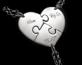 Personalised Gift Mum, Sister Gift, Mom, Big Sis, Lil Sis Necklaces
