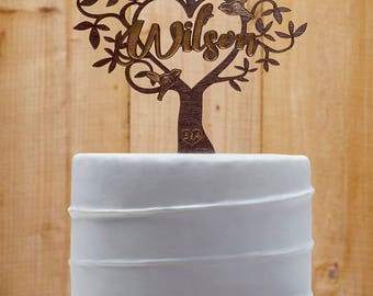 Last Name Cake Topper Customized Wedding Cake Topper, Personalized Cake Topper for Wedding, Custom Personalized Wedding Cake Topper 07