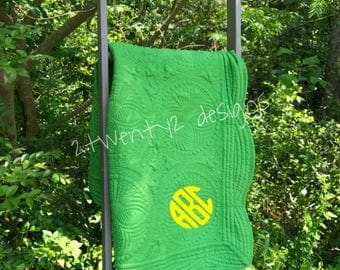 SALE! John Deere Colors Monogrammed baby quilt | blanket | lap quilt | embroidered | personalized | keepsake | baby shower gift | crib | mon