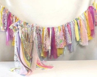 Wedding Garland & Wand Package, Birthday Party Banner with Favors Set, Bride Groom Send Off, Photo Prop Backdrop, Table Decor