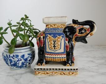 Elephant Garden Stool Miniature - Vintage Elephant - Chinoiserie Elephant