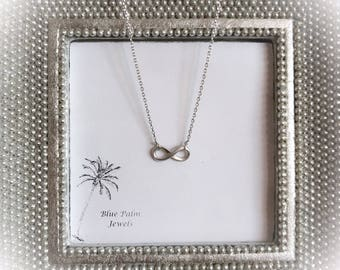 20% OFF- Handmade Silver Mini Infinity Charm Necklace