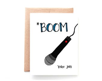 Graduation Card - Congratulations Card - Funny Retirement Card -Funny Card - Drop the Mic