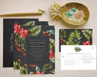 hawaii wedding invitations | etsy, Wedding invitations