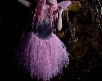 Pink Sparkle and Star Tulle Princess Tutu Fairy Skirt