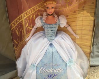 Vintage Collectable Disney Collector Doll Cinderella 50th Anniversary