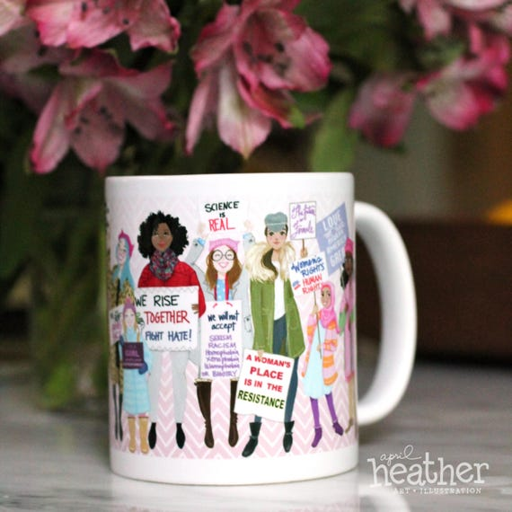 womens march commemorative mug