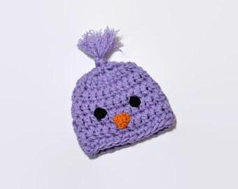 Chick Hat, Newborn Easter Hat, Baby Bird Hat, Spring Hat, Baby Chick Hat, Newborn Photo Prop, Baby Shower Gift, Crochet