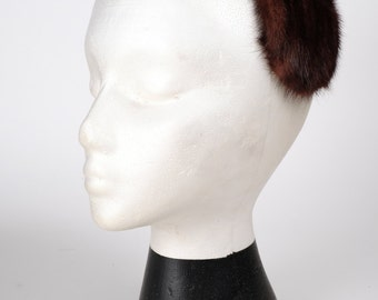 Vintage 1950s Style Fur Half Hat