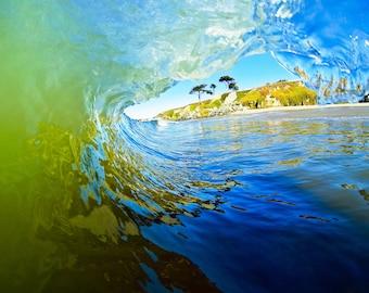 Wave Art Photograph, Surf Photo,  California Beach Style , Photography Waves, Santa Cruz Beaches Prints