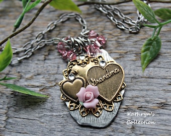 Grandma Necklace, Mother's Day Gift, Gift for Grandma, Grandmother Jewelry