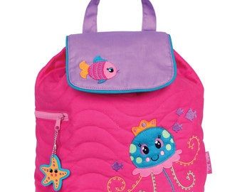 JELLYFISH Stephen Joseph  Quilted Backpack  ~ free personalization ~ Lake Martin Monograms