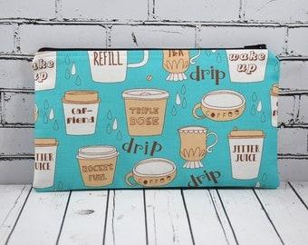 Coffee Addict Pencil Case, Coffee Lover, Caffeine Addict Small Makeup Bag