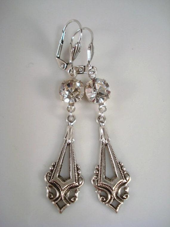 art deco earrings gatsby inspired earrings by