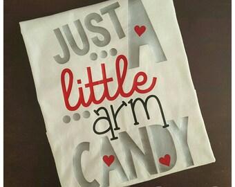 Just A Little Arm Candy Shirt, Boys Valentine's Shirt