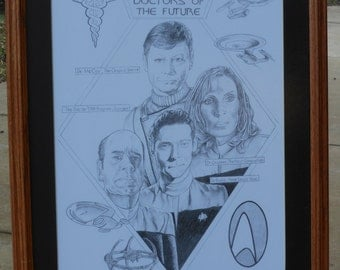 "Doctors of the Future. Pencil Drawing of ""Star Trek"" Physicians"