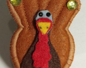 Thanksgiving Turkey ID Badge Holder Reel Clip