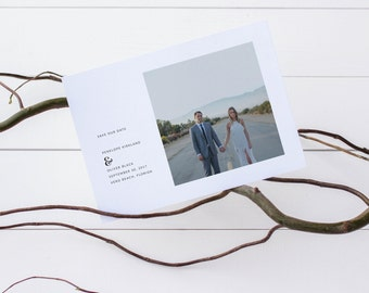 Printable Save the Date | Simple Save the Date | Modern Save the Date | Save the Date Photo Template | Minimalist Save the Date | SD-014
