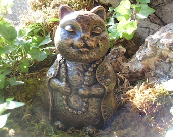 Buddha Cat Statue,Zen Garden Art,Lucky Cat Buddha,Meditating Cat,Zen Cat,Yoga Cat Statue,Buddha Statue,Zen Garden Decor,Concrete