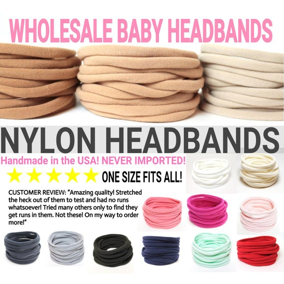 One Size Fits All Stretchy Baby Headband - Add Your Own Bow!