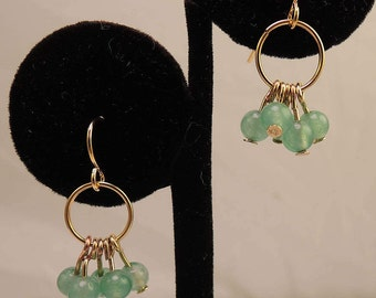 The Bibury Earring-Semi-Precious Stones and Gold Plated Fittings-Handmade-Free Shipping