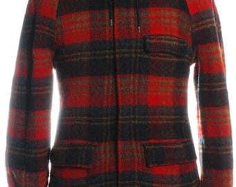 Vintage 1960's William Barry Plaid Hooded Coat S - www.brickvintage.com