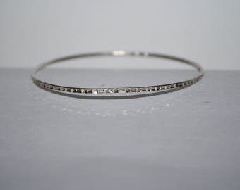 Beautiful Vintage Petite Sterling Silver  Bracelet 7 in