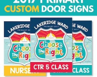 2017 Primary CUSTOM Classroom Door Signs