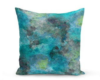 Throw Pillow Cover Teal Turquoise Lime Grey Modern Home Decor Living room bedroom accessories Cushion Cover Decorative Pillow Cover