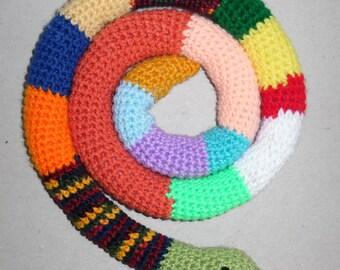 Crochet Hiss the Snake Stuffed Toy Amigurumi