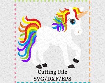 Rainbow Unicorn SVG Cutting File,  unicorn svg, pony svg, horse svg, unicorn cut file, unicorn cutting file, rainbow pony cut file