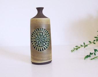 Tomas Anagrius small vase// Vintage Mid Century Modern Pottery // Swedish pottery vase