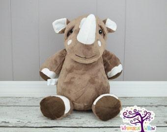 Rhino Stuffed Animal Cubbie